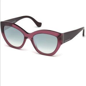 Balenciaga Cat-Eye Sunglasses - Burgundy